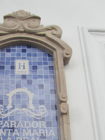 Parador Santa Maria la Real: Sign on outside wall next to main entrance