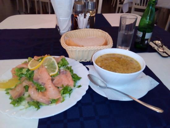 Memories : Smoked Salmon Salad and Lamb Soup
