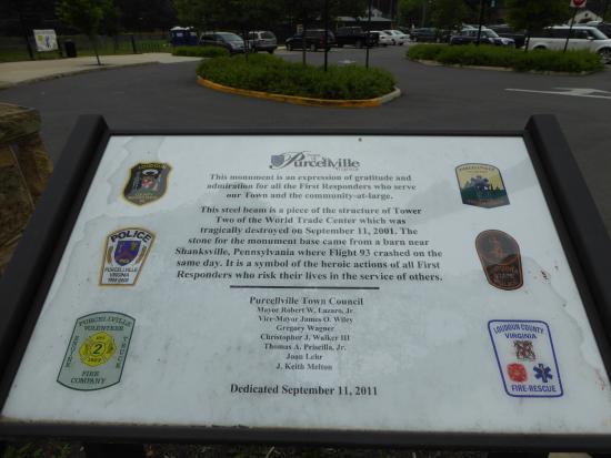Purcellville, VA: 9/11 Memorial