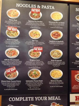 Menu inside - Picture of Noodles & Company, Sterling - TripAdvisor