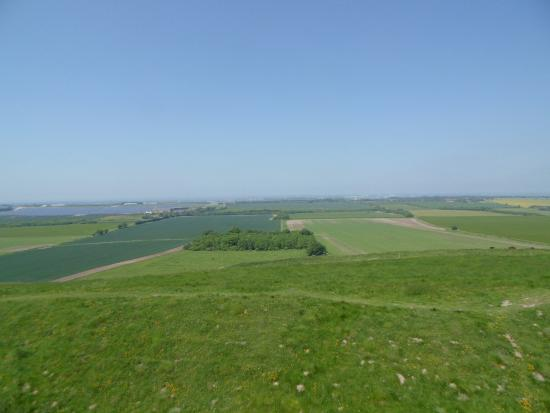Broad Hinton, UK: the view from up there is stunning