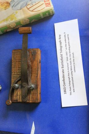 Bloomfield, NY: Note the ingenuity that went into scrounging this together. A Civil War telegraph key.
