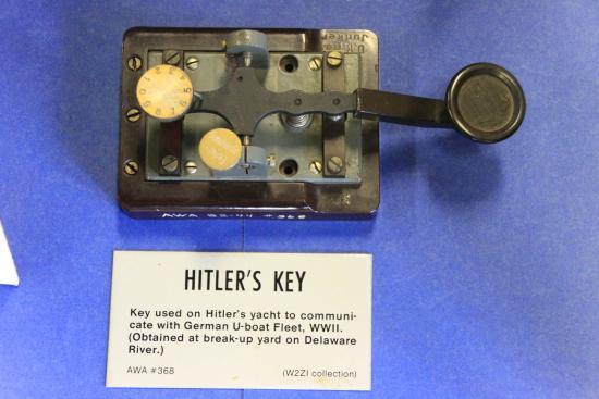 Bloomfield, NY: Telegraph key used on Hitler's yacht. Only one of these.