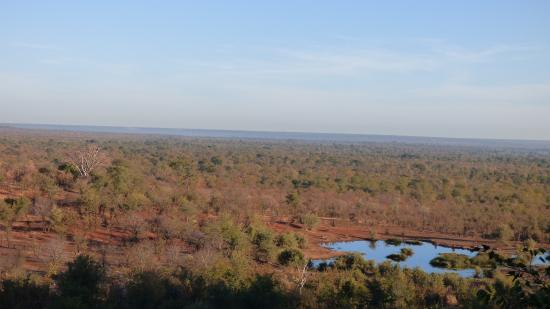 Victoria Falls Safari Club: view from the terrace