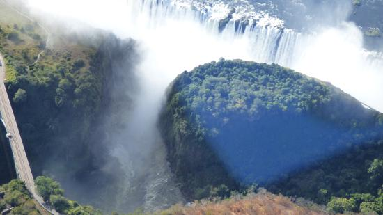 Victoria Falls Safari Club: Flying over the falls