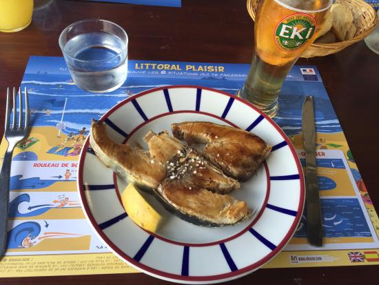 la grillerie de sardines : Tuna steak and an Eki