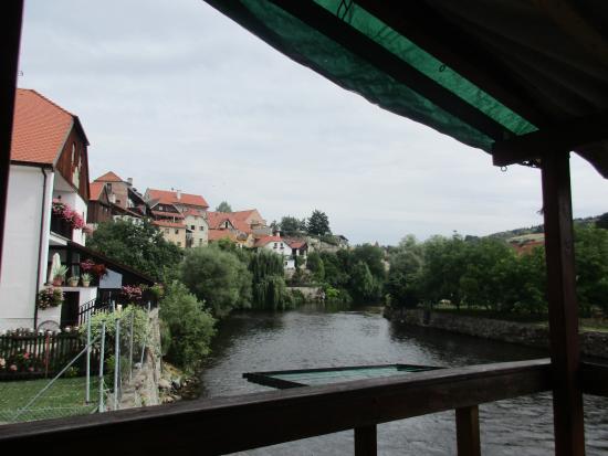 Hostel Skippy: Vltava desde la terraza del hostel