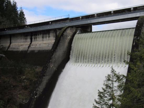 North Vancouver, Canadá: Cleveland Dam from the lower viewing area
