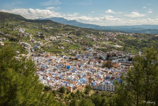 Hotel Atlas Chefchaouen: View from the hotel terrace