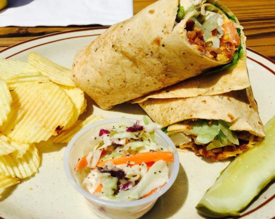 Saint Germain, WI: Yummy chicken and bacon wrap