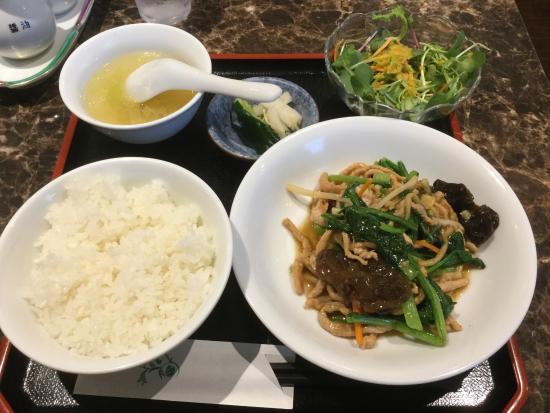 Ranranchuja: 肉と青菜のXO醬炒めランチ