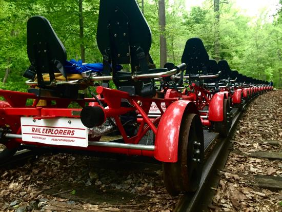 Hockessin, DE: Rail Explorers at the Mt Cuba Picnic Grove
