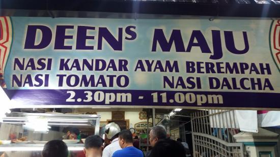 Operating Hours Picture Of Deen Maju George Town Tripadvisor