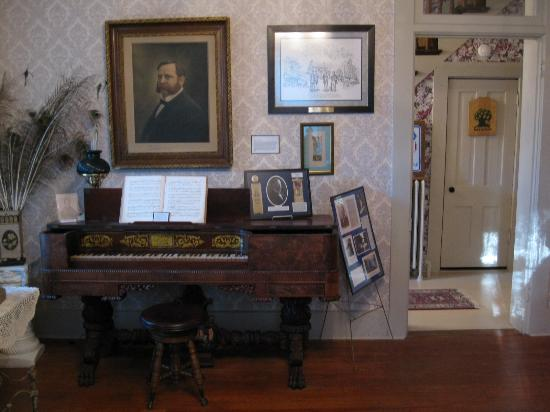 Greenville, IL: front parlor box piano