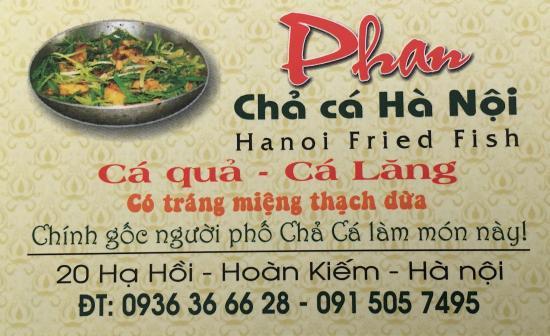Cha Ca Phan Ha Noi