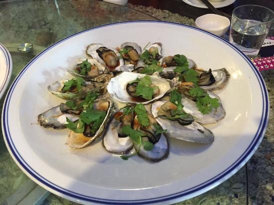 Seafood, local fresh vegetable