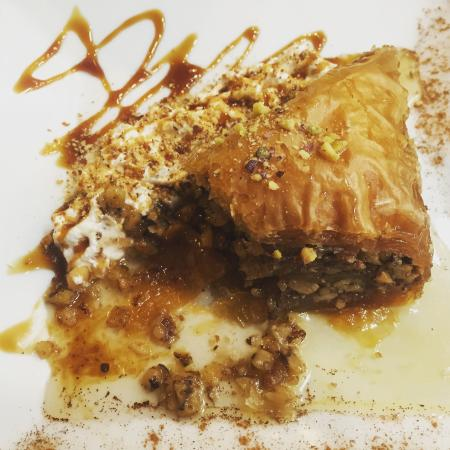 Royal cafe patisserie : The best baklava and coffee in town.