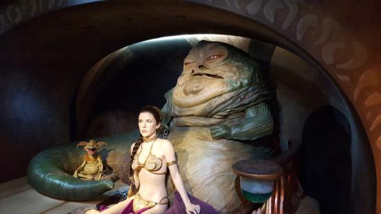 Jabba & Leia - Picture of Madame Tussauds London, London ... Jabba The Hutt And Leia