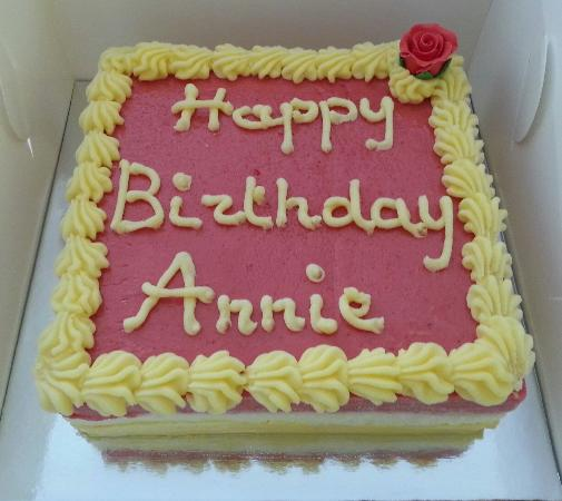 Birthday cakes made to order Picture of Gelateria Milano Brisbane