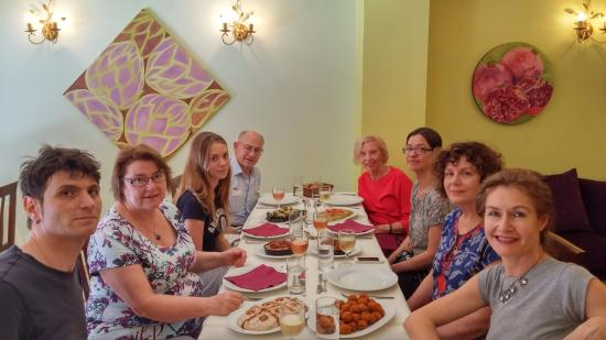 Cooking Alaturka : Here we all are enjoying our lunch afterwards and we have prepared all that food!