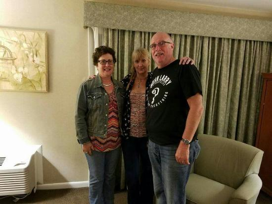 Best Western Chincoteague Island: The view from outside room 352 and inside during the annual Tip to Tippers Va Motorcycle ride!