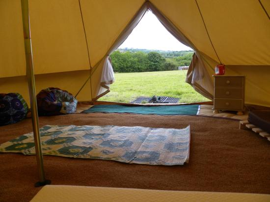 YHA Exford : Bell tents available for summer camping