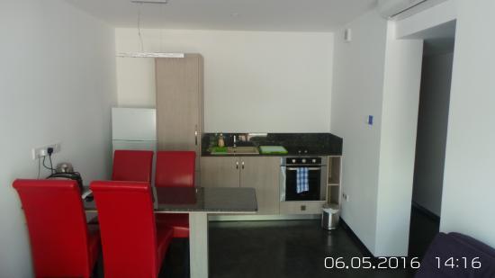 Neptune Hotel Apts.: Renovated kitchen