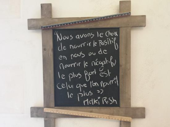 Esvres, Frankrike: No solamente nutren el cuerpo con los ricos alimentos que preparan, sino el alma con estos mensa