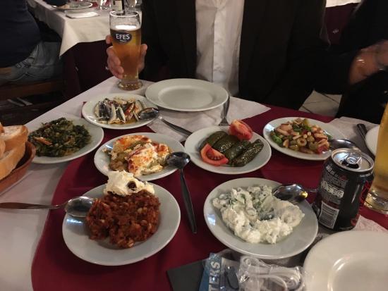 Palmiye Restaurant Istanbul : choix de crudités pour l'entrée