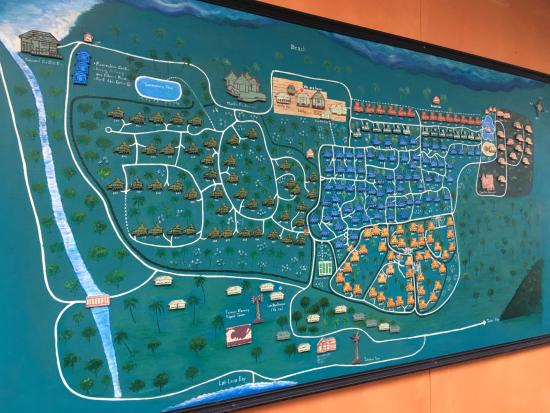 Phi Island Village Beach Resort Map