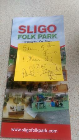 Sligo Folk Park: Receipt of our entrance ticket