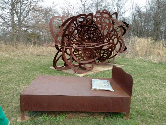 Hamilton, NJ: Sculpture in a field
