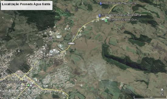 mapa aguas santas Mapa da localização da pousada   Picture of Pousada Agua Santa  mapa aguas santas