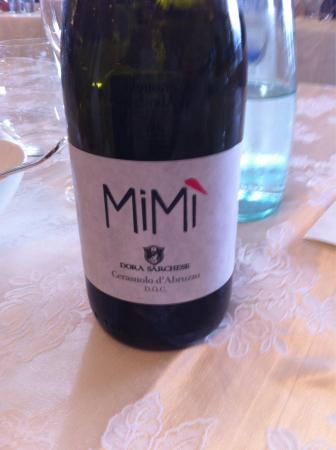 """Vino """"MIMI"""" Cerasuolo d'Abruzzo doc"""