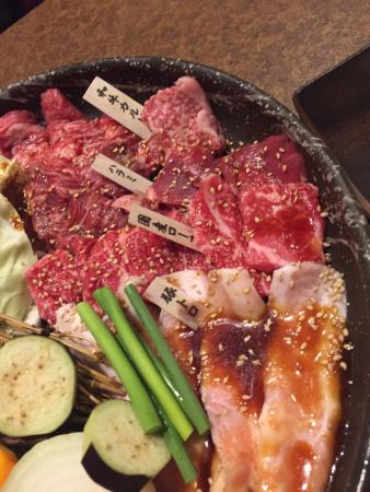 Wagyu Charcoal fire grilled meat Koshiya Otsu