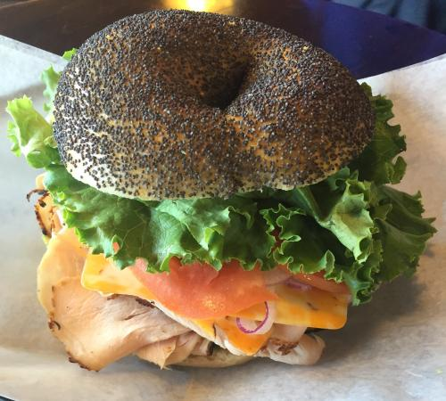 The Bagel Place: Breakfast sandwiches and lunch sandwiches available all day long!