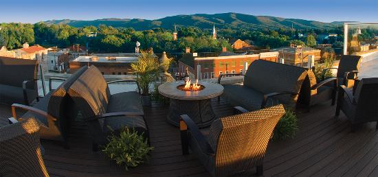 Wytheville, VA: The Perch Rooftop Terrace with a view
