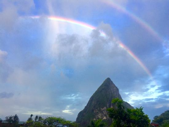 Boucan by Hotel Chocolat: Waking up early to a double rainbow! Breathtaking.