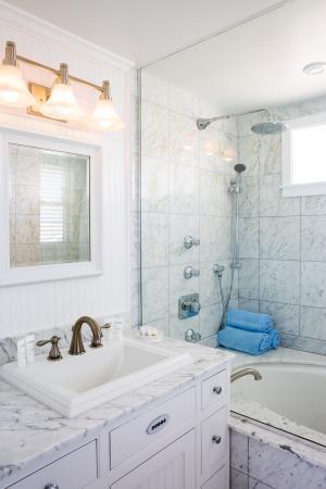 Beachy Bathroom At Blue
