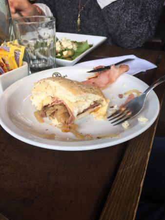 hamburguesa con panceta