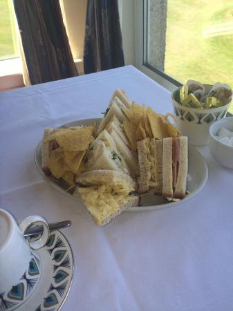 The West Lothian Golf Club: really nice sandwiches and crisps