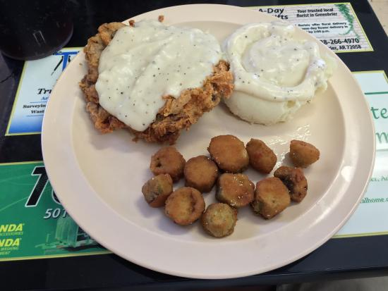 Greenbrier, AR: Chicken fried steak