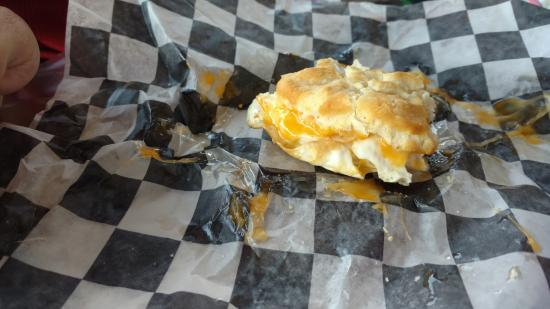 Taylor's Creek Grocery: Egg and cheese biscuit