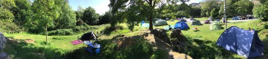 Eskdale, UK: Panorama around the campsite