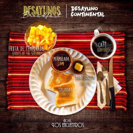 Hotel Los Encuentros: Breakfast