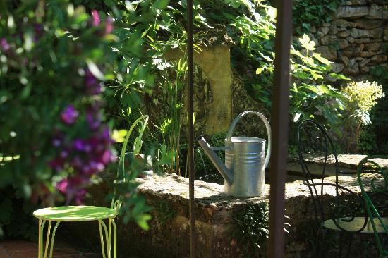 Les Jardins de Cadiot: fontaine des patios