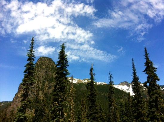 View of one of the peaks at Snoqualmie Pass from the Pacific Coast Trail