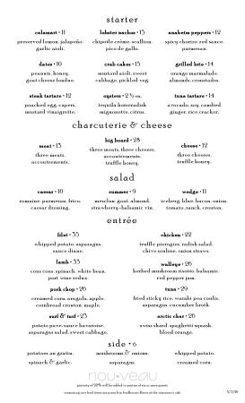 Concord, OH: Our summer menu.