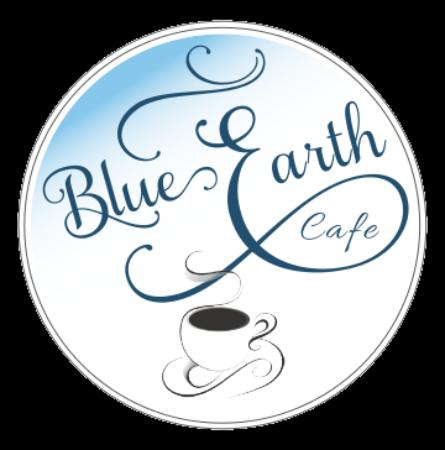 Saguache, Colorado: Blue Earth Cafe in Saguache, Colorado - logo image