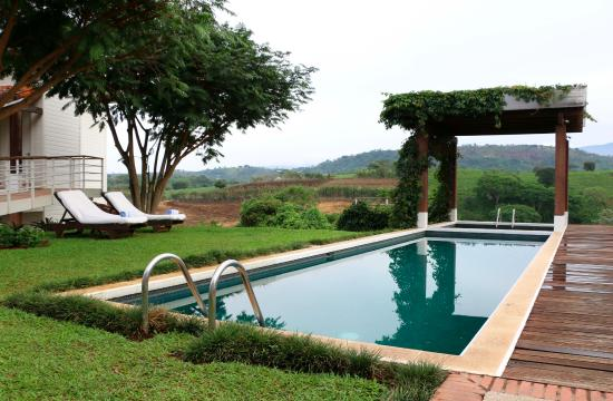 Asclepios Wellness & Healing Retreat: Main pool with a gorgeous view